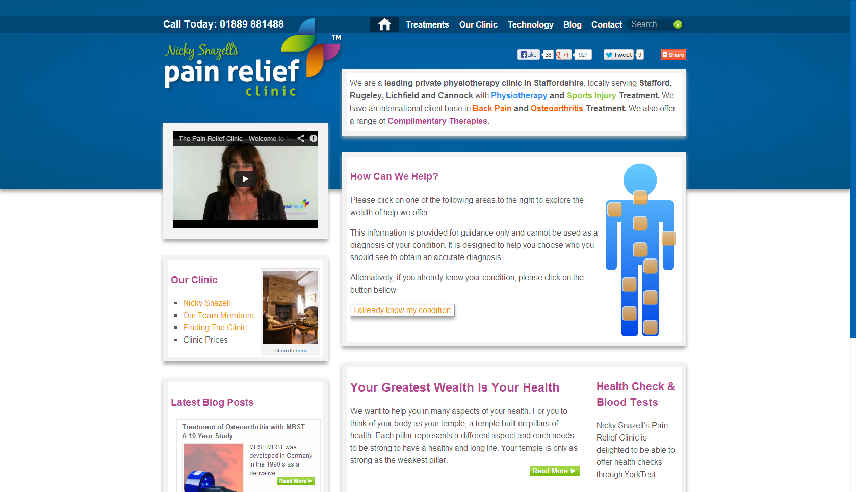 Nicky Snazell's Pain Relief Clinic Website