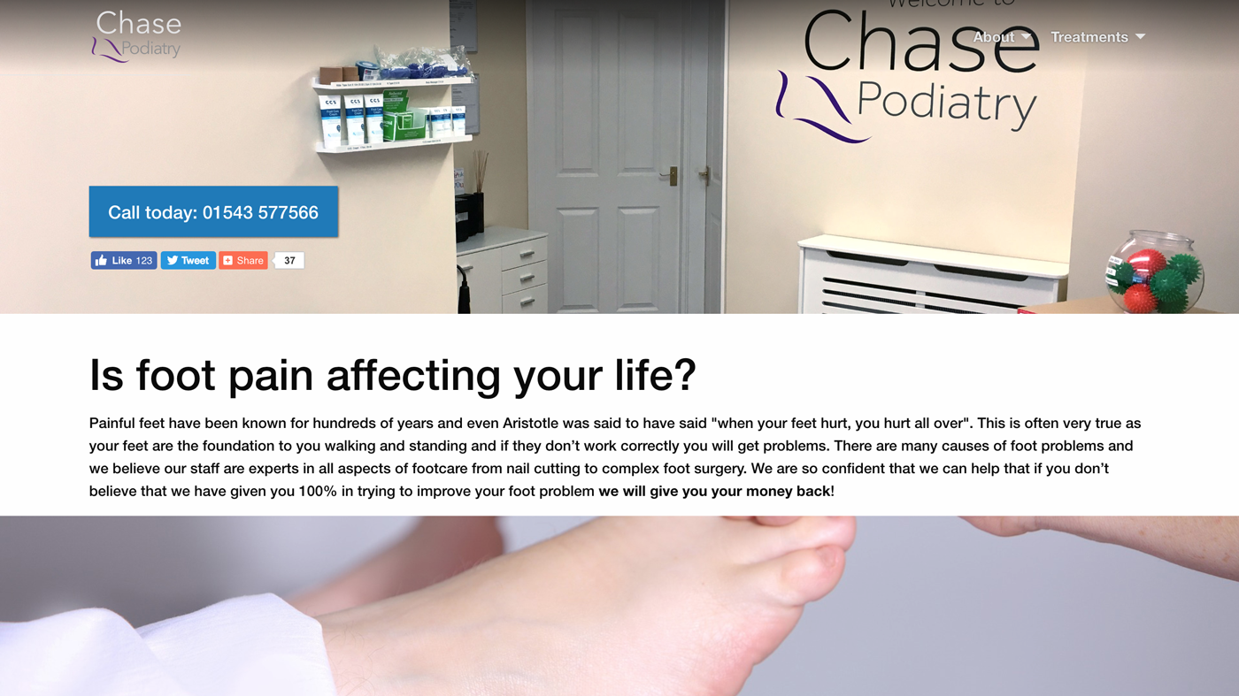 Chase Podiatry & Chiropody Website